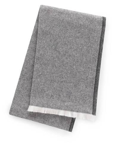 Tmavosivý pléd s podielom bavlny Euromant Linen, 140 x 160 cm