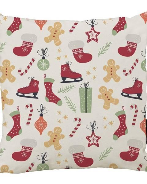 Butter Kings Vianočný vankúš s bavlnenou obliečkou Butter Kings Winter, 45 x 45 cm