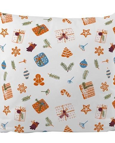Vankúš s vianočným motívom Butter Kings Wrapped Surprise, 45 x 45 cm