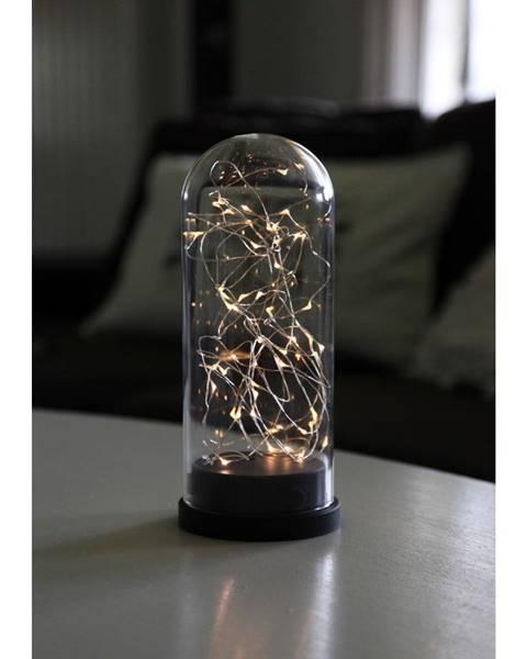 Best Season Čierna LED svetelná dekorácia Best Season Glass Dome, výška 25 cm