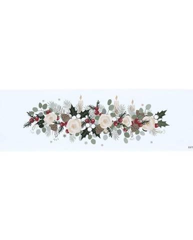 Bavlnený behúň s vianočným motívom Butter Kings Fir Branches, 140 x 40 cm