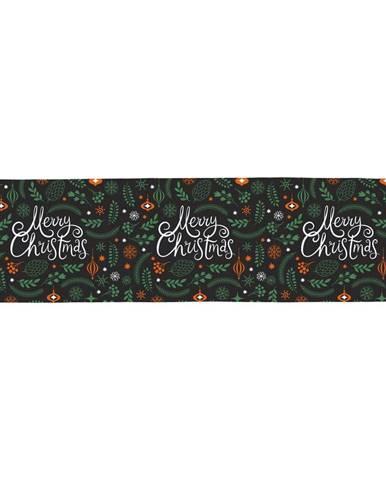 Bavlnený behúň s vianočným motívom Butter Kings Very Merry Christmas, 140 x 40 cm