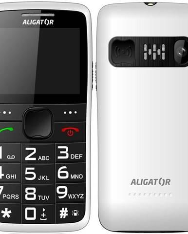 Mobilný telefón Aligator A675 Senior biely