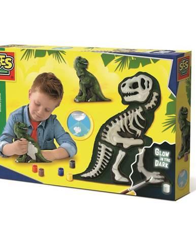 SES CREATIVE Sádrový T-Rex kreativní set k odlévání z gumové formy