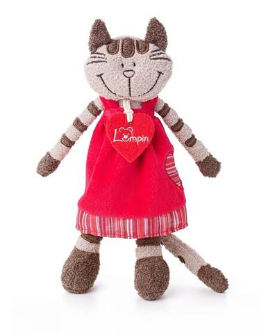 Lumpin Mačička Angelique v jahodových šatách stredná 23 cm