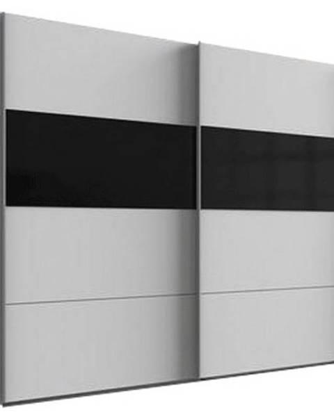Möbelix Skriňa S Posuvnými Dverami Bramfeld,biela/sklo Čierne