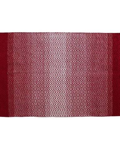 Zošívaný Koberec Malta 1, 70/140cm, Červená