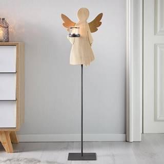 Svietnik Anjel Lilli Masívne Drevo Výška 88cm