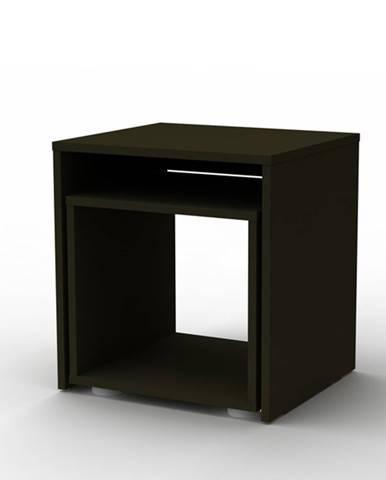 Prístavný stolík DUO sada 2 ks, čierna