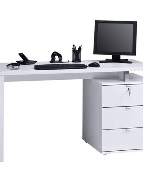 Sconto Pracovný stôl EMERSON biela