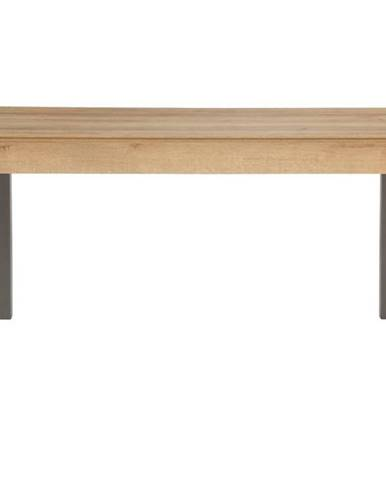 Písací stôl MILO dub riviera/antracitová