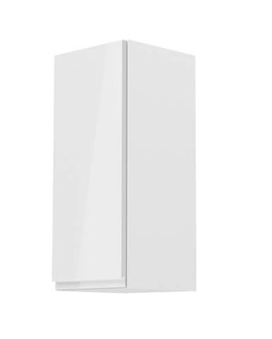 Horná skrinka biela/biely extra vysoký lesk ľavá AURORA G30