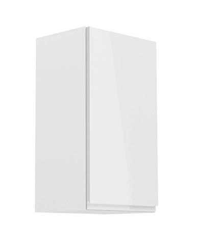 Horná skrinka biela/biely extra vysoký lesk pravá AURORA G40