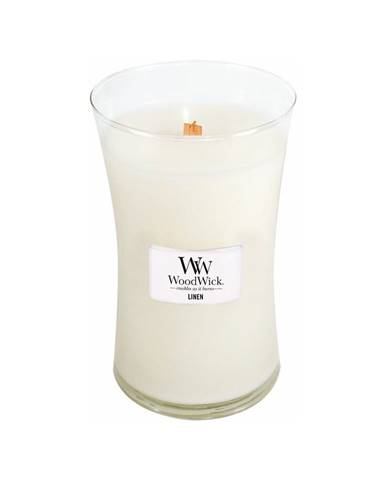 Sviečka s vôňou čerstvo vypraného prádla WoodWick Čisté prádlo, 110 hodín horenia