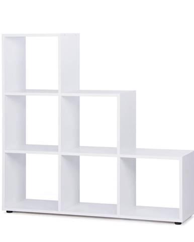 Knižnica BERGAMO 1 biela