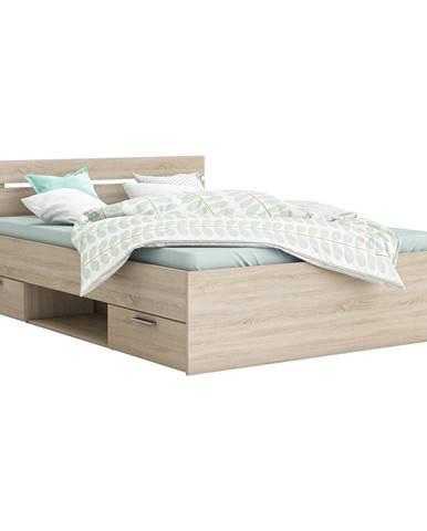 Multifunkčná posteľ 140x200 MICHIGAN dub