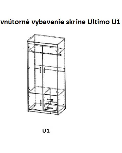 Dolmar Dolmar Šatníková skriňa ULTIMO U1