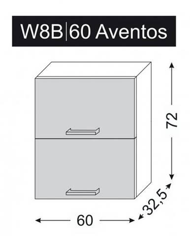 ArtExt Vrchná kuchynská skrinka Napoli W8B/60 AVENTOS POVRCHOVÁ ÚPRAVA DVIEROK