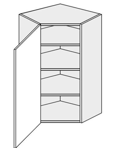 ArtExt Vrchná kuchynská skrinka rohová Napoli W4/10/60 POVRCHOVÁ ÚPRAVA DVIEROK