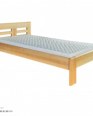 Drewmax Jednolôžková posteľ - masív LK160 | 90 cm buk