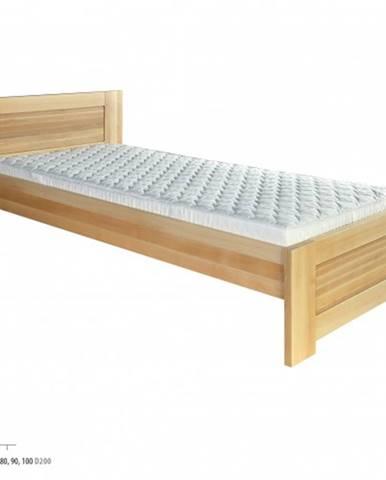 Drewmax Jednolôžková posteľ - masív LK161 | 90 cm buk
