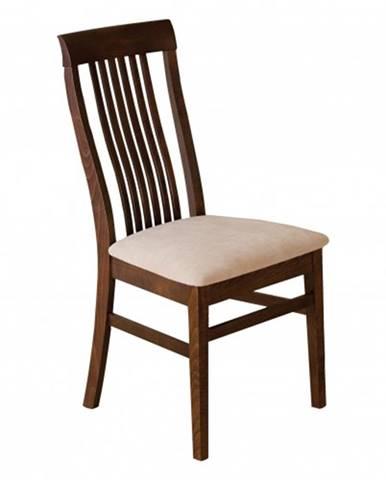 Drewmax Jedálenská stolička - masív KT179 | buk / látka