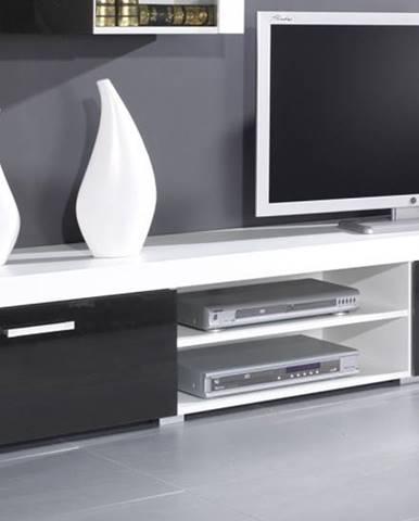Artcam TV stolík Samba reg.8   biela/čierny lesk