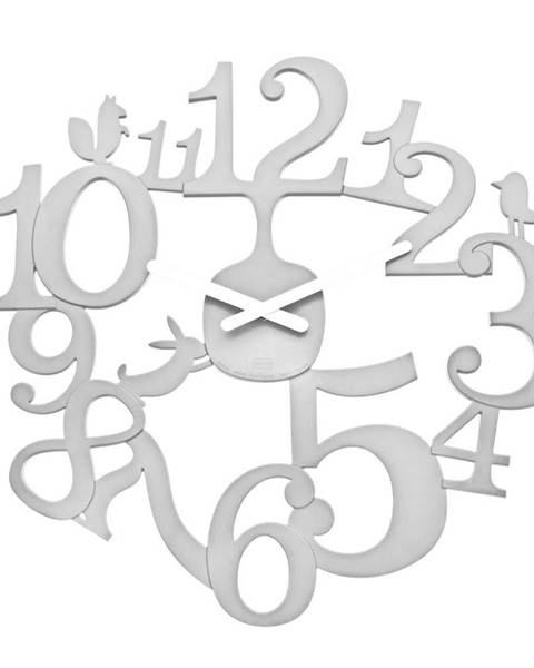 Koziol Koziol Nástenné hodiny PI:P biela, pr. 45 cm