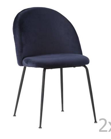 Súprava 2 modrých jedálenských stoličiek HoNordic Geneve