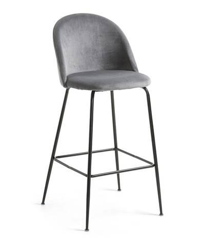 Sivá jedálenská stolička La Forma Hermann