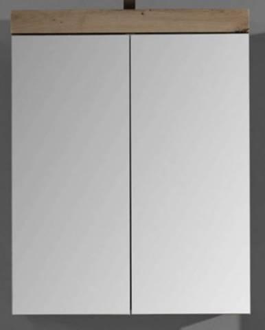 Kúpeľňová skrinka so zrkadlom Amanda 405, sukový dub%