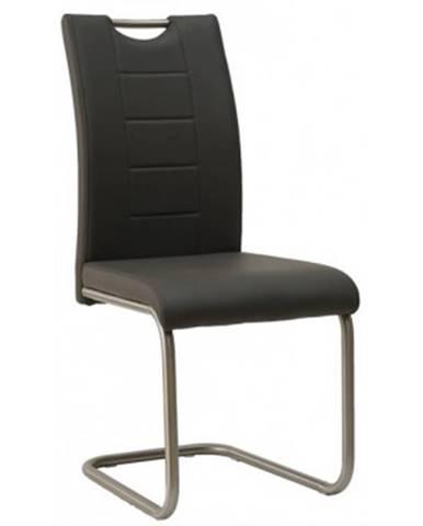 Jedálenská stolička Cindy, tmavo šedá ekokoža%