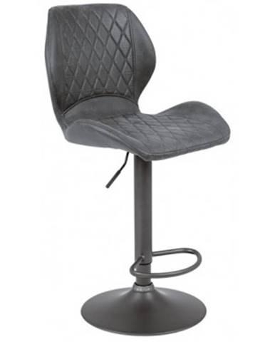 Barová stolička Sonja, antracitová vintage látka%