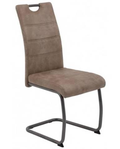 Jedálenská stolička Flora 4, béžová vintage látka%