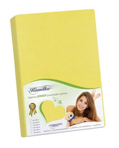 Bellatex Jersey prestieradlo Kamilka žltá, 200 x 220 cm