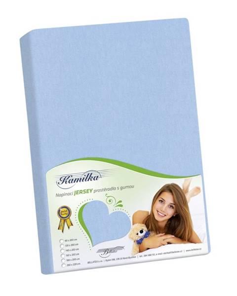 Bellatex Bellatex Jersey prestieradlo Kamilka svetlo modrá, 100 x 200 cm