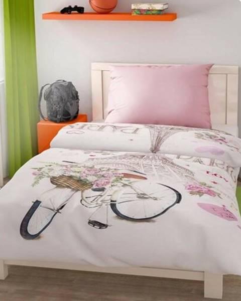 Kvalitex Kvalitex Bavlnené obliečky Paris Love, 140 x 200 cm, 70 x 90 cm