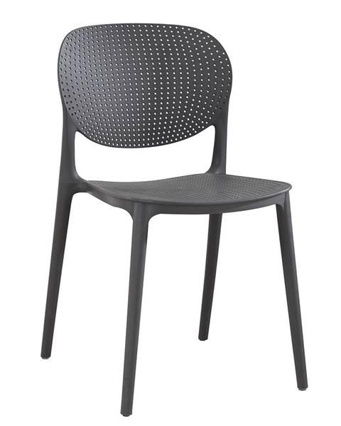 Kondela Stohovateľná stolička tmavosivá FEDRA