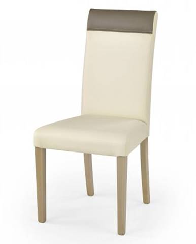 Jedálenská stolička Norbert krémová, dub sonoma