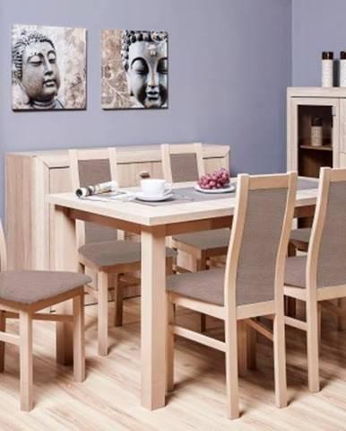 Agáta - Set 6x stolička, 1x stôl + rozklad
