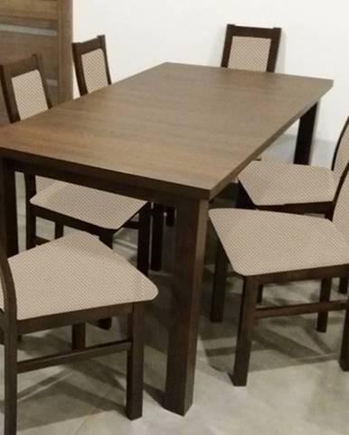 Jedálenský set Agáta - 6x stolička, 1x rozkladací stôl
