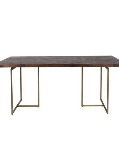 Jedálenský stôl s oceľovou konštrukciou Dutchbone Aron, 180 x 90 cm