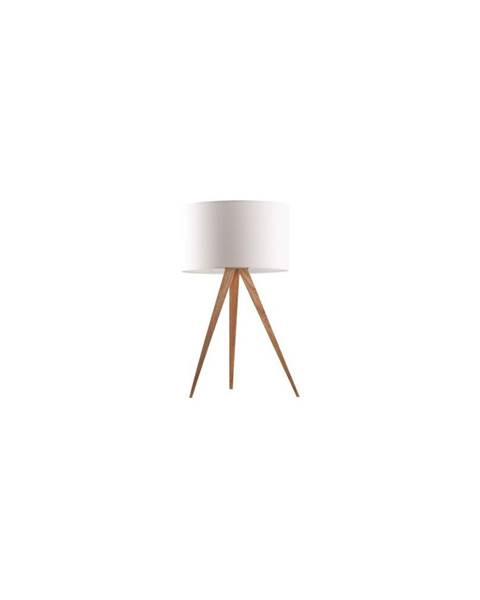 Zuiver Biela stolová lampa Zuiver Tripod Wood