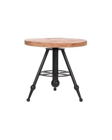 Odkladací stolík s doskou z mangového dreva LABEL51 Solid, ⌀ 45 cm