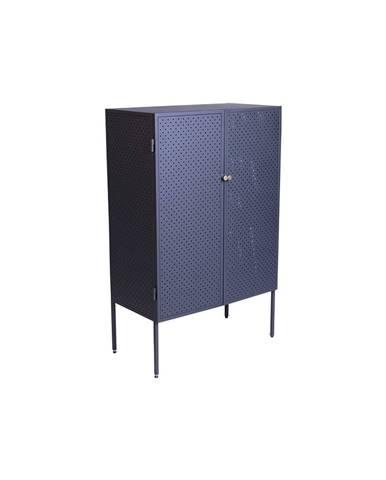 Čierna kovová komoda Canett Brooks, výška 110 cm