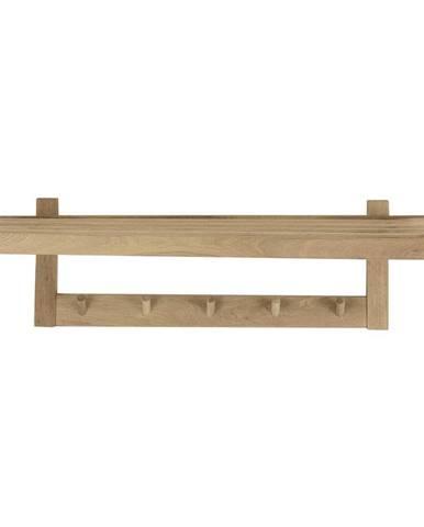 Nástenný vešiak na oblečenie z dubového dreva Canett Uno