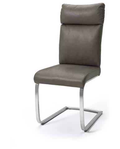 Jedálenská stolička RILEY tmavohnedá