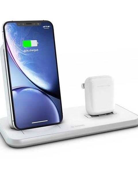 ZENS Bezdrôtová nabíjačka Zens Stand + Dock biela