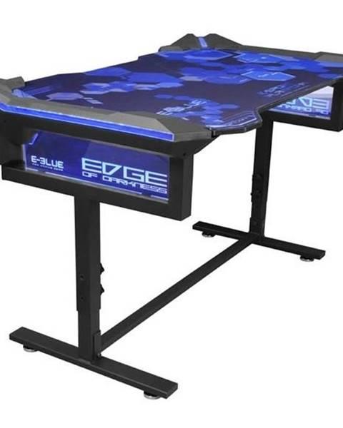 E-Blue Herný stôl E-Blue 135x78,5 cm, RGB podsvícení, výškově nastavitelný