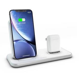 Bezdrôtová nabíjačka Zens Stand + Dock biela